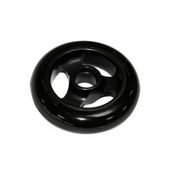 Castor Wheel 100mm X 25mm – 3 Spoke - Black