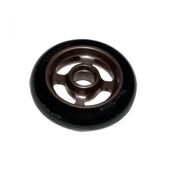 Castor Wheel 100mm X 25mm - 4 Spoke - Graphite Grey