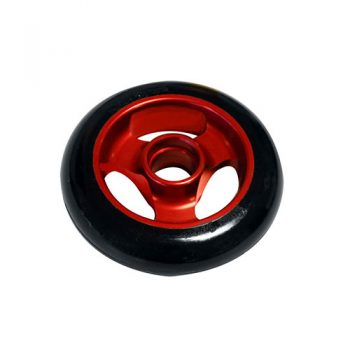 Castor Wheel 100mm X 25mm - 3 Spoke - Red