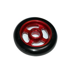 Castor Wheel 100mm X 25mm - 4 Spoke - Red
