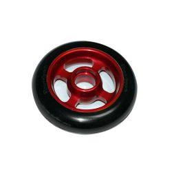 Castor Wheel 100mm X 25mm - 4 Spoke - Red