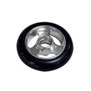 Castor Wheel 100mm X 25mm - 3 Spoke -Silver