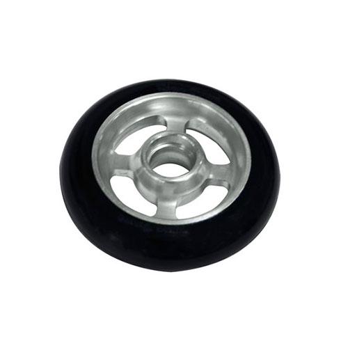 Castor Wheel 100mm X 25mm - 4 Spoke -Silver