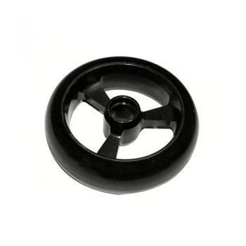 Castor Wheel 125mm X 35mm - 3 Spoke - Black