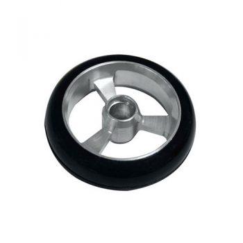 Castor Wheel 125mm X 35mm - 3 Spoke - Silver