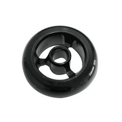 Castor Wheel 100mm X 35mm - 3 Spoke - Black