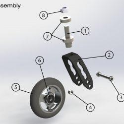 Castor Wheel Bearing 608-2Z